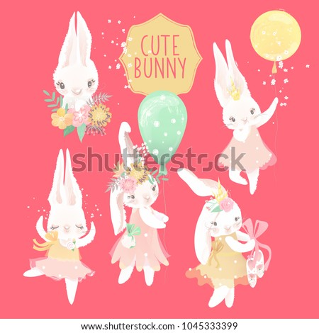 cute ballerina bunny princess