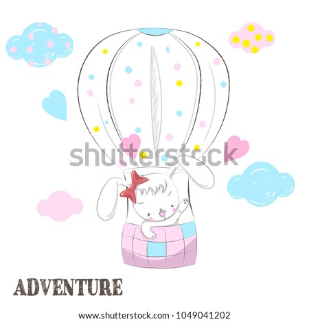 Stock Photo cute balloon rabbit