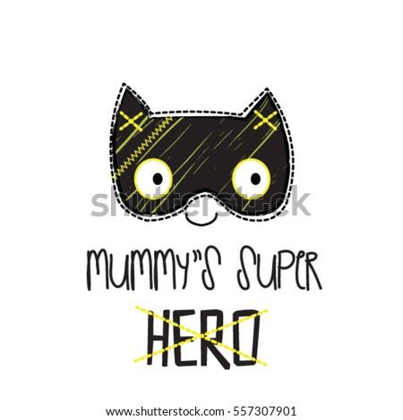 cute bat mask  mummy's super