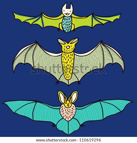 Cute Bat - Vector set