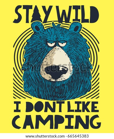 cute bear  camping and outdoor