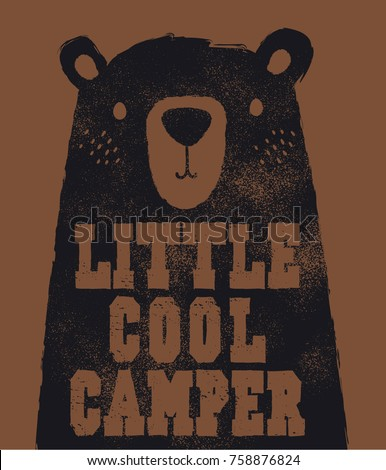 cute bear head illustration as