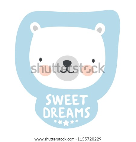 cute bear sticker  sweet dream