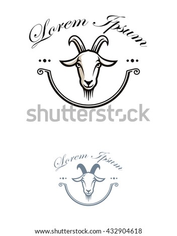 Cute Beard Goat Icon