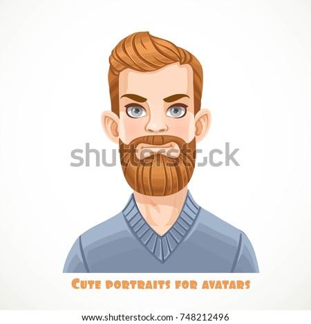 cute bearded blond men in a