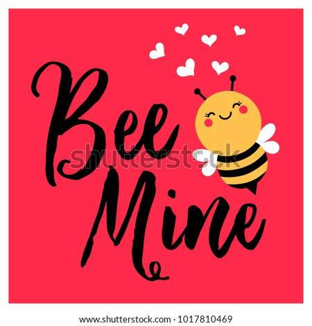 cute bee cartoon illustration