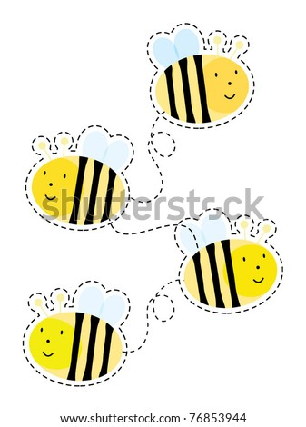 Cute bee element