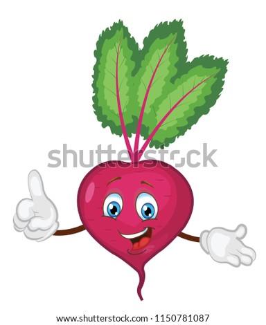 cute beet character cartoon/