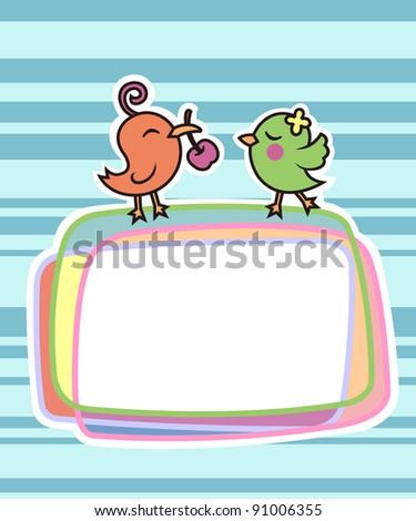 cute bird - stock vector