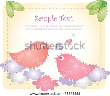 Cute bird design - stock vector