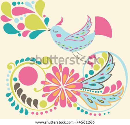 cute bird. vector illustration