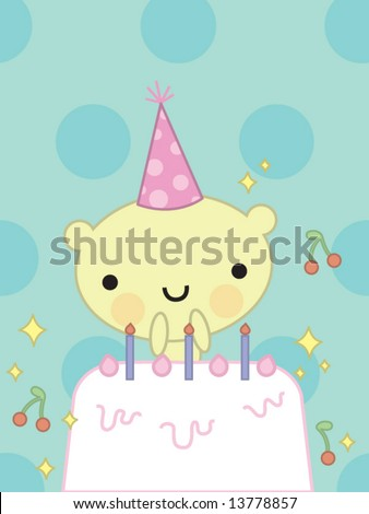 Cute Birthday Card Stock Vector 13778857 : Shutterstock