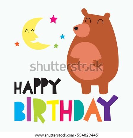 Cute Birthday Card For Children Baby Birthday Card Ez Canvas