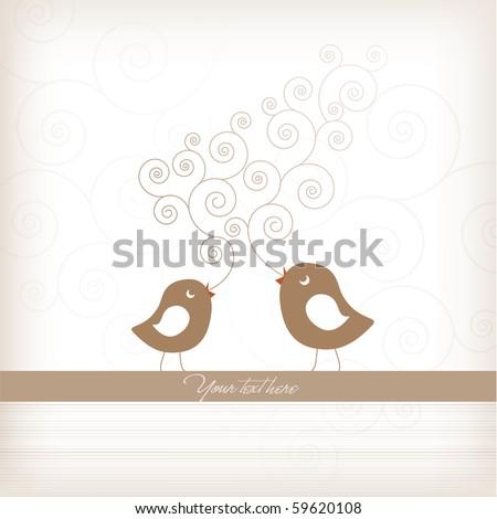 Cute Birthday Card with Birds
