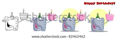 Cute Birthday Elephant
