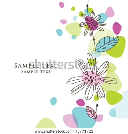 Cute Birthday Greeting Card With Stylish Colorful Shaped Background