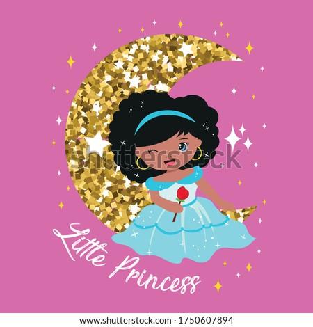 cute black little princess on