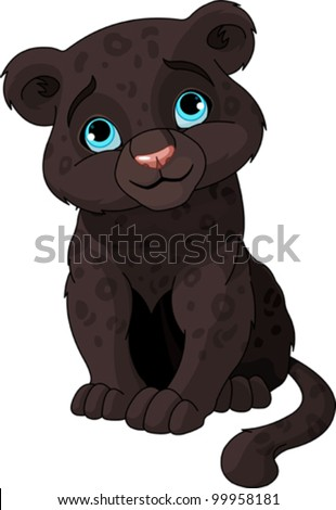 cute black panther cub