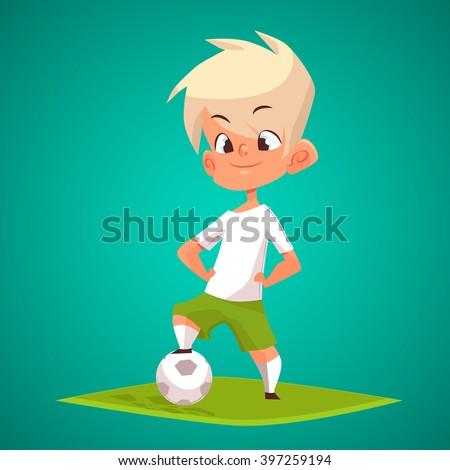 cute blonde boy with ball