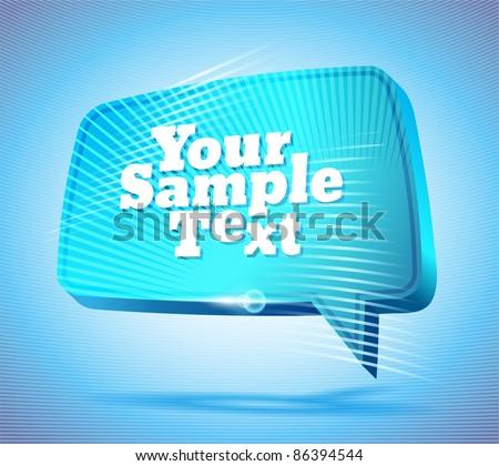 cute blue speech bubble