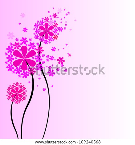 Cute bouquet of flowers. vector illustration
