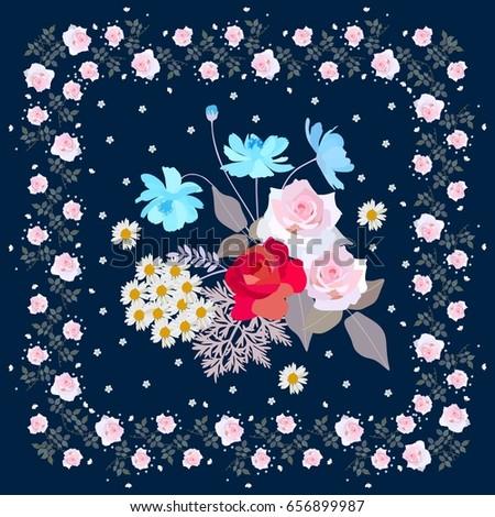 cute bouquet of gardening