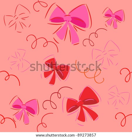 cute bow decorations.vector background.seamless texture.holiday pattern