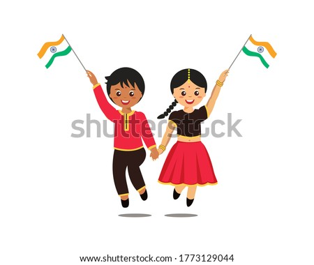 cute boy and girl indian