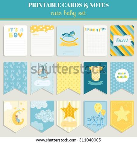 cute boy card set. birthday ...