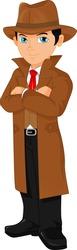 cute boy detective posing