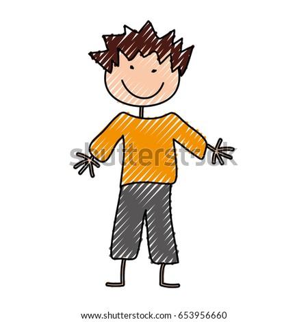 cute boy drawing icon #653956660