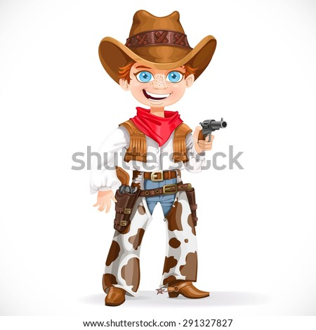 cute boy dressed as a cowboy
