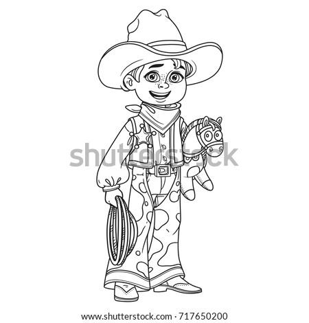 cute boy in cowboy costume