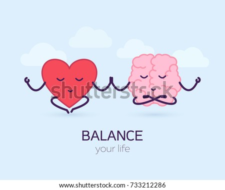 cute brain and heart meditation