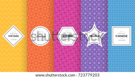 Cute bright seamless pattern background. Vector illustration bright design. Abstract spring floral frame. Stylish decorative label set. Flower, heart ornament. Bright summer pattern walpaper