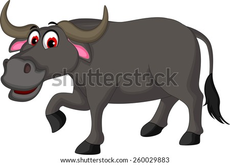 Cartoon Buffalo Free Vector | 123Freevectors