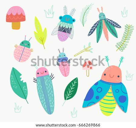 cute bug beetle insect clip art