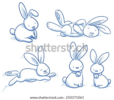 cute bunny  rabbit collection