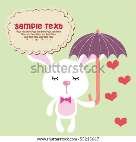 cute bunny with umbrella 6