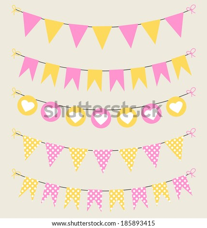cute bunting set pink and