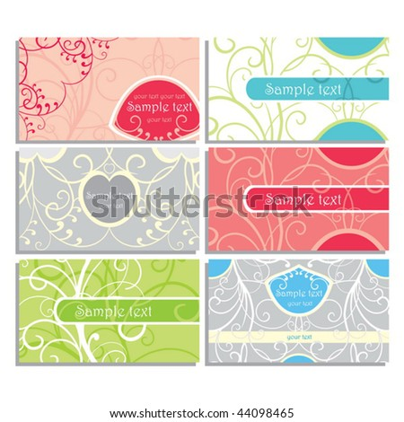 Cute Business Cards Stock Vector Illustration