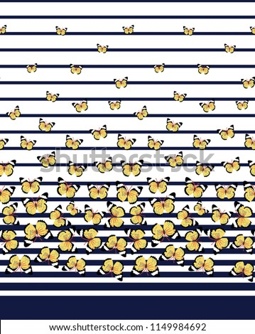 cute butterfly border pattern