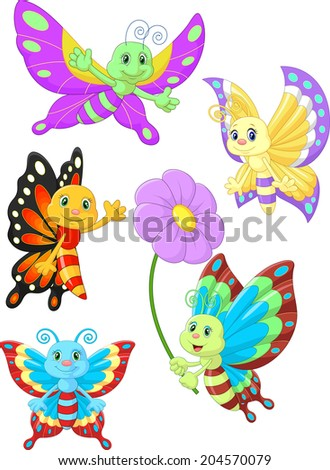 stock-vector-cute-butterfly-cartoon-collection-set