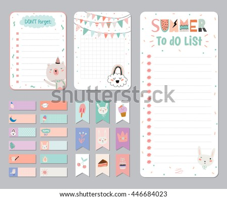 Cute Daily Planner Free Vector Download Free Vector Art Stock