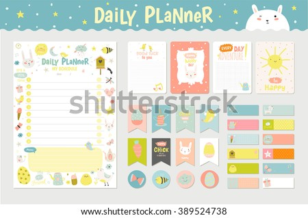 stock-vector-cute-calendar-daily-planner-template-for-beautiful-diary-with-vector-character-and-funny-kids