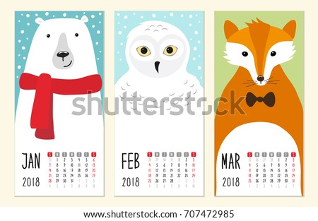 cute 2018 calendar pages with