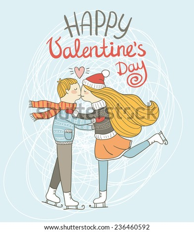 cute card valentine's day the