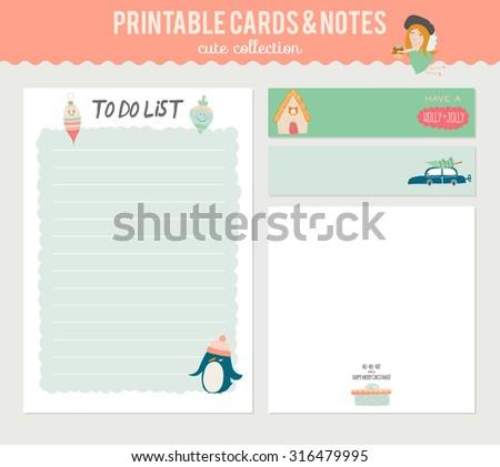 cute christmas list template