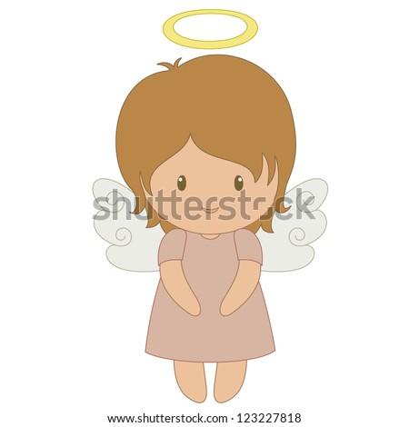 cute cartoon angel  isolated on