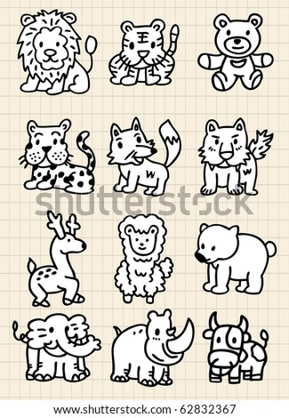 cute cartoon animal icon